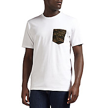 Buy Carhartt WIP Lester Pocket T-Shirt, White/Camo Tiger Online at johnlewis.com