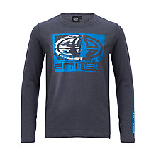 Buy Animal Boys' Board Long Sleeve T-Shirt, Blue Marl Online at johnlewis.com