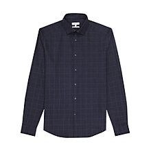 Buy Reiss Darlin Check Slim Fit Shirt, Navy Online at johnlewis.com