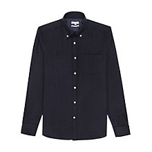 Buy Reiss Emerick Wool-Blend Slim Shirt, Navy Online at johnlewis.com