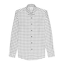 Buy Reiss Lorenzo Houndstooth Check Regular Fit Shirt, White Online at johnlewis.com