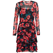Buy French Connection Allegro Poppy Dress, Black/Multi Online at johnlewis.com