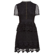 Buy Ted Baker Dixa Layered Lace Skater Dress, Black Online at johnlewis.com