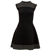 Buy Ted Baker Tessai Knitted Sparkle Dress, Black Online at johnlewis.com