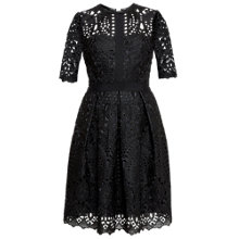 Buy Ted Baker Avas Engineered Lace Dress, Black Online at johnlewis.com