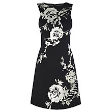 Buy Karen Millen Floral Scuba Dress, Black Online at johnlewis.com