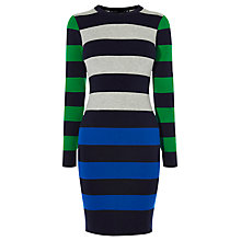 Buy Karen Millen Colour Block Stripe Dress, Multi Online at johnlewis.com