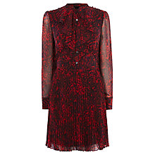 Buy Karen Millen Leopard Print Shirt Dress, Red/Multi Online at johnlewis.com