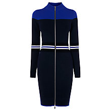 Buy Karen Millen Sporty Placed Stripe Dress, Blue/Multi Online at johnlewis.com