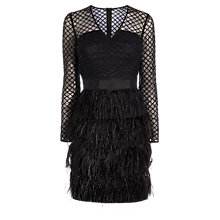 Buy Coast Zaydee Feather Dress, Black Online at johnlewis.com
