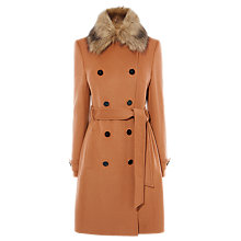 Buy Karen Millen New Investment Coat, Camel Online at johnlewis.com