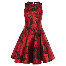 Buy Coast Monique Jacquard Tella Dress, Red Online at johnlewis.com