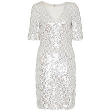 Buy French Connection Snow Sequins Dress, Freeway Grey/Multi Online at johnlewis.com