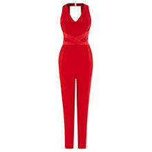 Buy Coast Viola Halter Neck Jumpsuit, Red Online at johnlewis.com