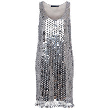 Buy French Connection Cindy Sparkle Scoop Neck Dress, Silver Online at johnlewis.com