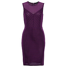 Buy French Connection Cordial Stripe Dress, Berry Online at johnlewis.com