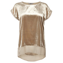 Buy Coast Palencia Velvet Top, Champagne Online at johnlewis.com