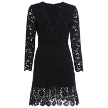 Buy French Connection Emmie Lace Dress, Black Online at johnlewis.com
