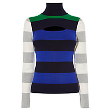 Buy Karen Millen Colourblock Stripe Turtleneck, Multicolour Online at johnlewis.com