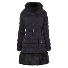 Buy Karen Millen Signature Padded Coat, Black Online at johnlewis.com