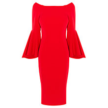 Buy Coast Roxie Bell Sleeve Dress, Red Online at johnlewis.com