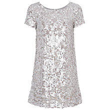 Buy French Connection Sequin Tunic Dress, Freeway Grey Multi Online at johnlewis.com
