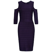 Buy French Connection Spotlight Story Bandage Dress, Berry Cordial Online at johnlewis.com