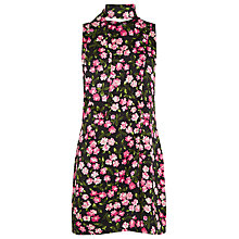 Buy Warehouse Cherry Blossom Scarf Dress, Black Online at johnlewis.com