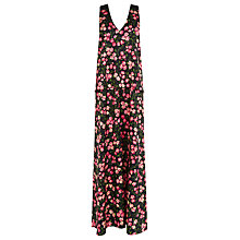 Buy Warehouse Cherry Blossom Maxi Dress, Black Online at johnlewis.com