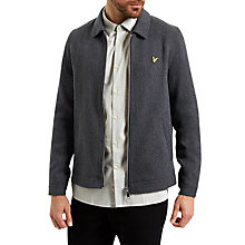 Buy Lyle & Scott Zip Through Collar Jacket, Charcoal Marl Online at johnlewis.com