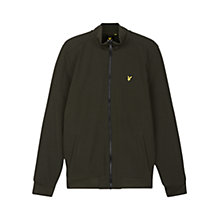 Buy Lyle & Scott Zip Through Soft Shell Jacket, Dark Sage Online at johnlewis.com