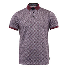 Buy Ted Baker Roway Geo Print Cotton Polo Shirt Online at johnlewis.com