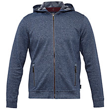 Buy Ted Baker Jipeto Textured Zip Up Hoodie, Navy Online at johnlewis.com