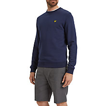 Buy Lyle & Scott Crew Neck Sweatshirt, Navy Online at johnlewis.com