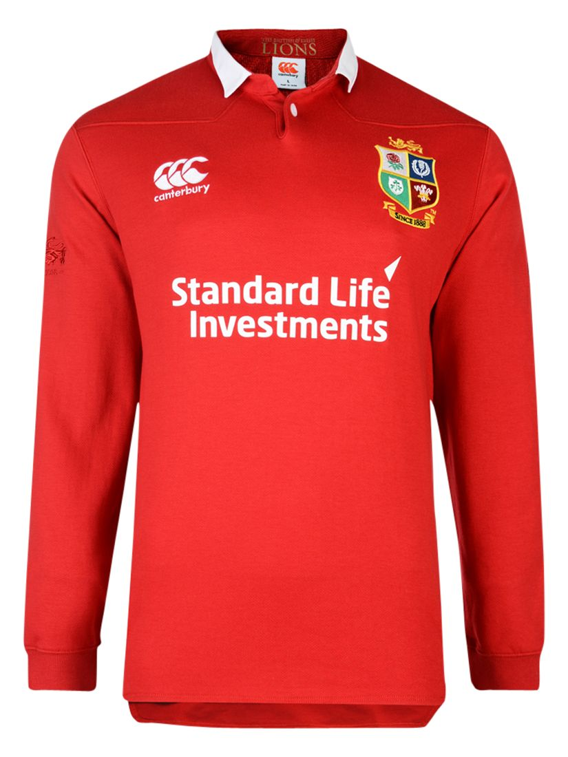 Canterbury of New Zealand Canterbury of New Zealand British and Irish Lions Classic Long Sleeved Men's Rugby Shirt, Red