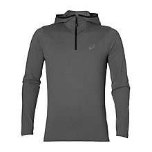 Buy Asics Long Sleeve Running Hoodie, Grey Online at johnlewis.com