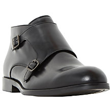 Buy Dune Mason Monk Strap Boots, Black Online at johnlewis.com