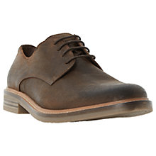 Buy Dune Binghams Lace-Up Suede Derby Shoes, Brown Online at johnlewis.com