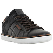 Buy Dune Tobey Quilted Panel Leather Trainers Online at johnlewis.com