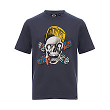 Buy Animal Boys' Skull Short Sleeve T-Shirt, Blue Online at johnlewis.com