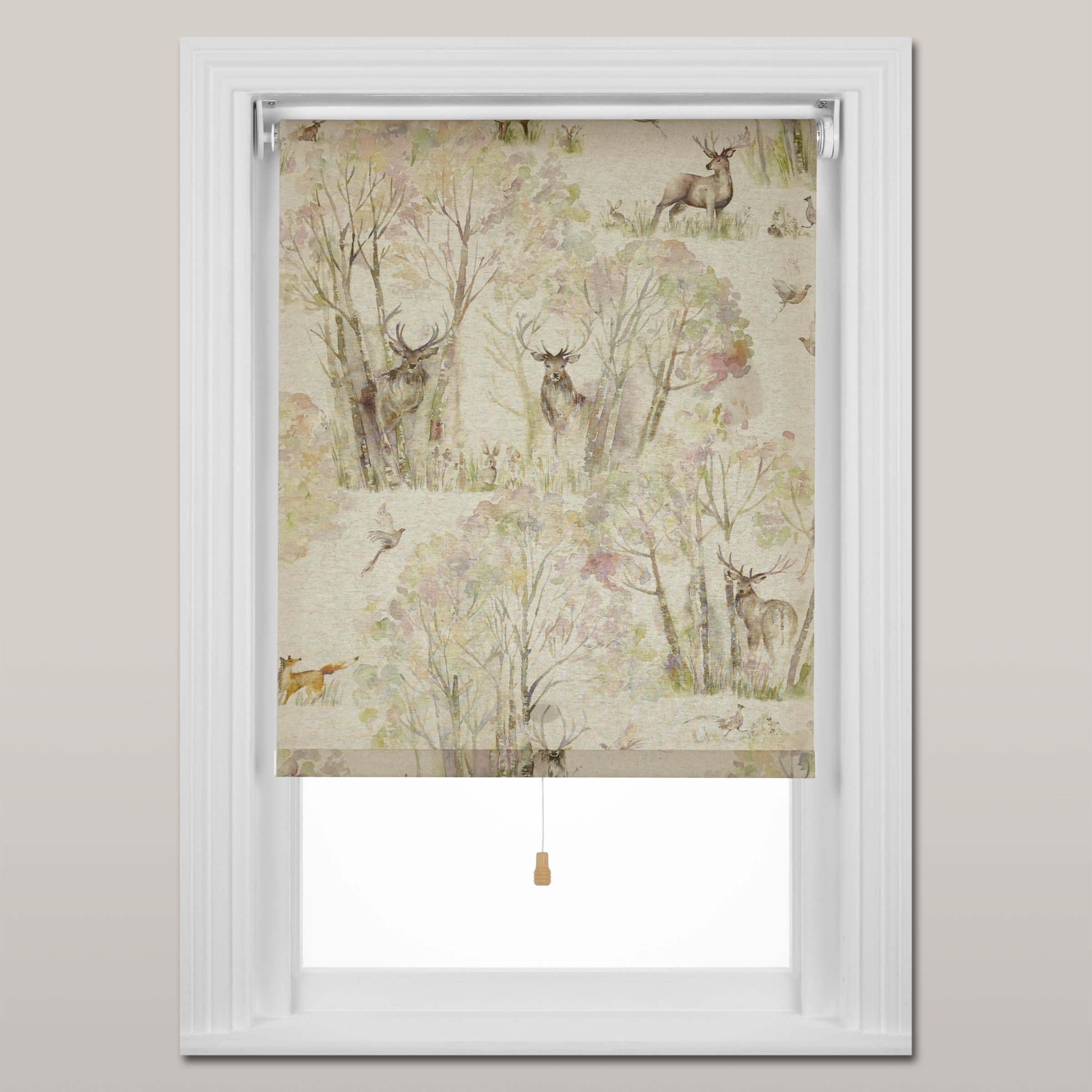 Voyage Voyage Sherwood Forest Roller Blind, Spring Mechanism, Natural