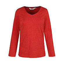 Buy Seasalt Meadow Pipit Jersey Top, Brick Online at johnlewis.com