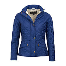 Buy Barbour Flyweight Cavalry Quilted Jacket, Indigo/Stone Online at johnlewis.com