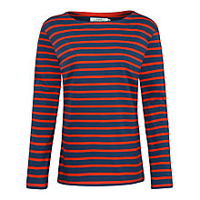 Buy Seasalt Sailor Jersey Top, Night/Brick Online at johnlewis.com