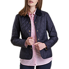 Buy Barbour Summer Liddesdale Quilted Jacket, Navy/Pearl Online at johnlewis.com