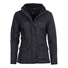 Buy Barbour Utility Polarquilt Jacket, Black Online at johnlewis.com