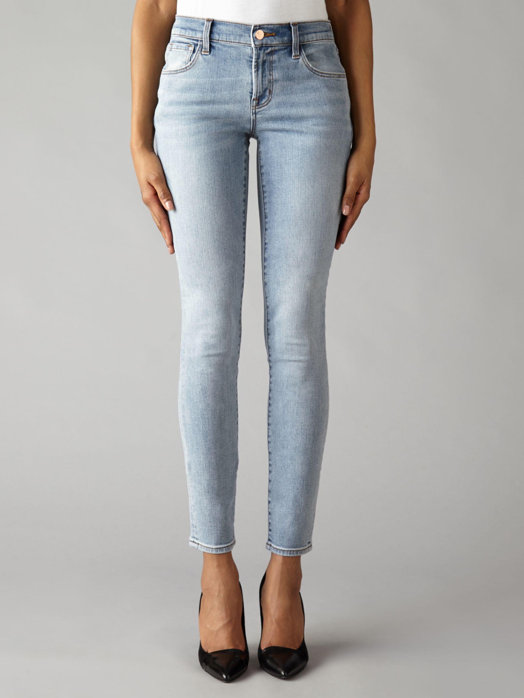 J Brand J Brand Mid Rise Skinny Jeans, Deserted