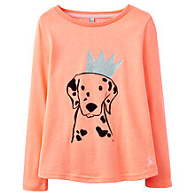 Buy Little Joule Girls' Dog With Crown T-Shirt, Orange Online at johnlewis.com