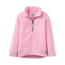 Buy Little Joule Girls' Merridie Half Zip Fleece, Pink Online at johnlewis.com