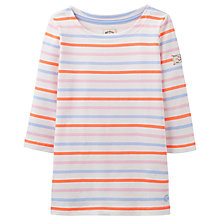 Buy Little Joule Girls' Harbour Multi Stripe Jersey Top, Multi Online at johnlewis.com